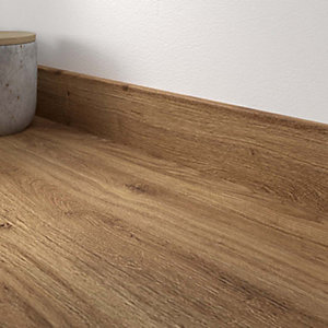 Chalet Oak Laminate Matt Upstand 70 x 12mm x 3m