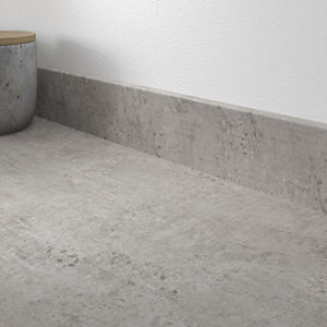 Woodstone Grey Laminate Matt Upstand 70 x 12mm x 3m