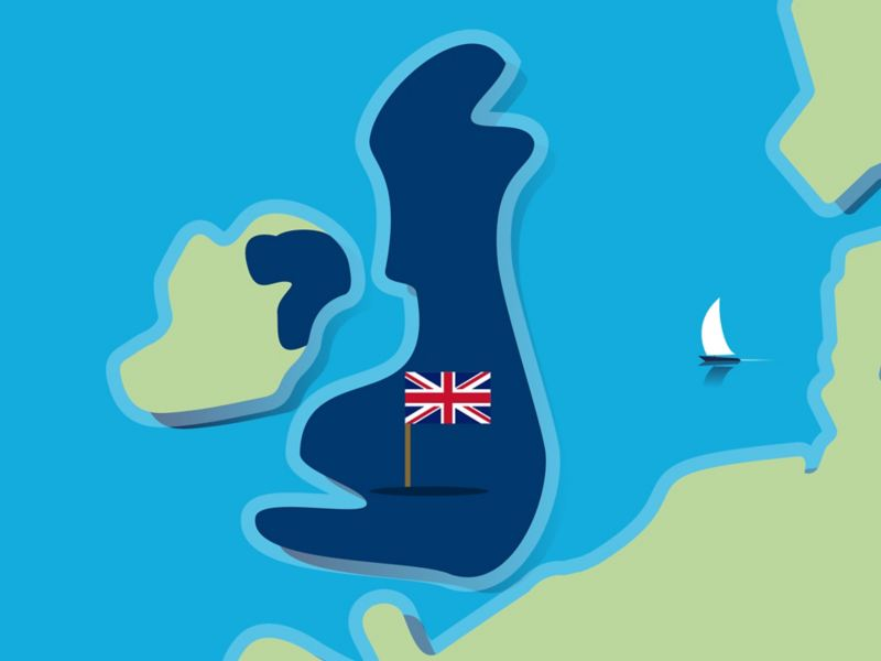 Stylised map of Great Britain
