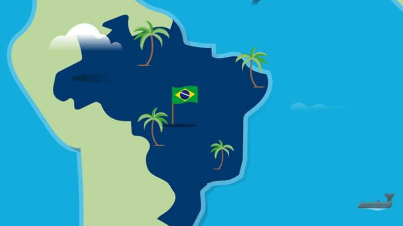 Stylised map of Brazil