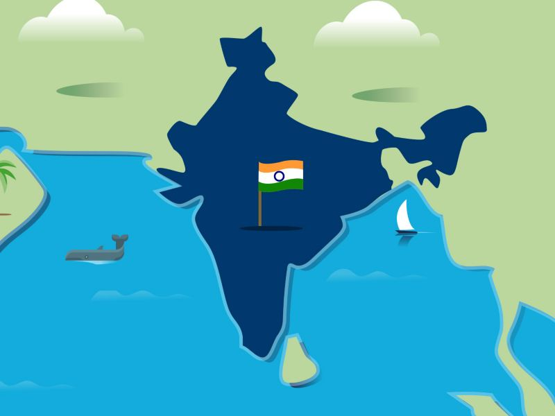 Stylised map of India