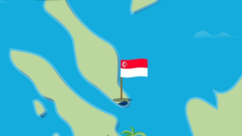 Stilisierte Karte von Singapur