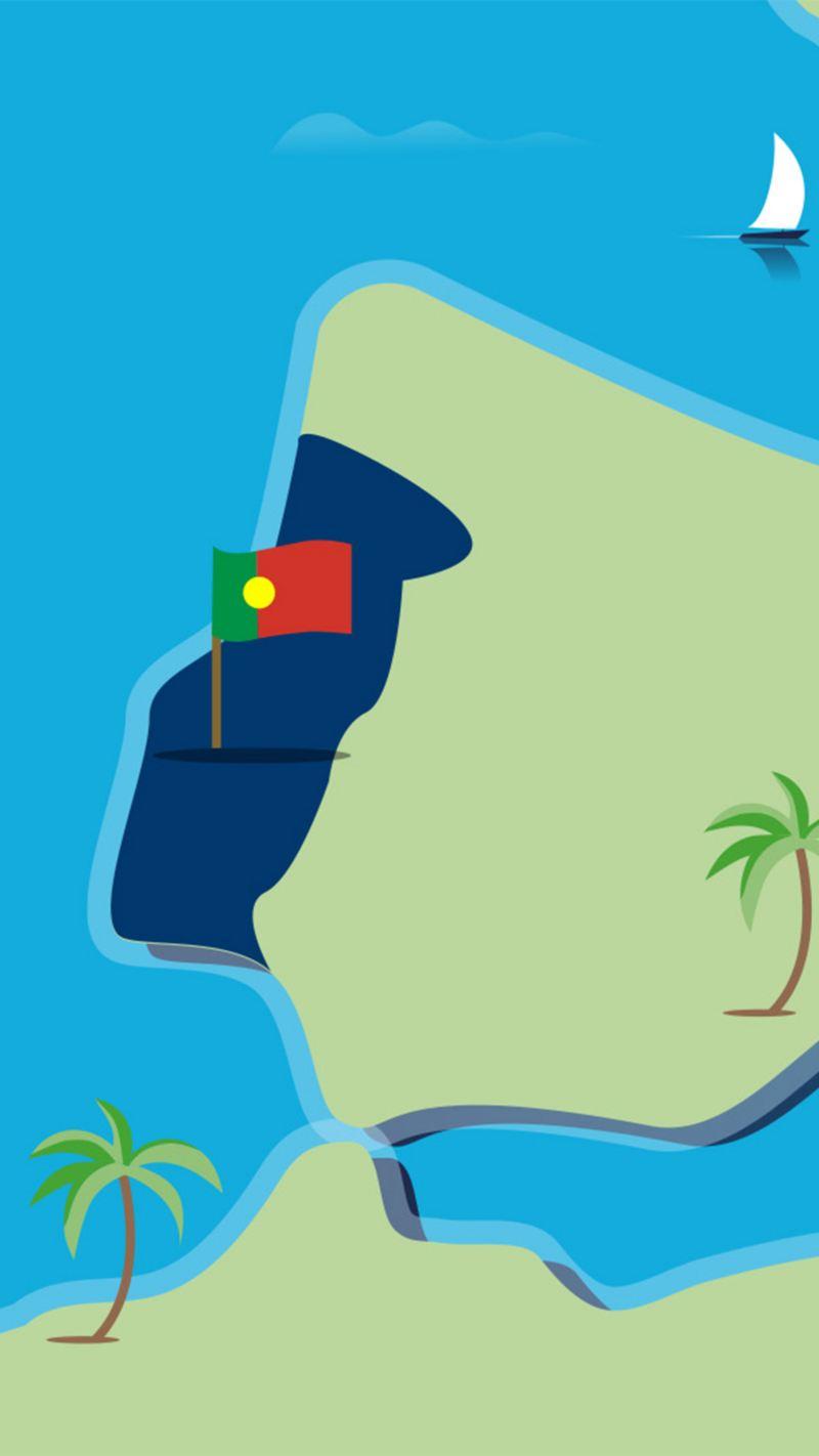 Stilisierte Landkarte von Portugal