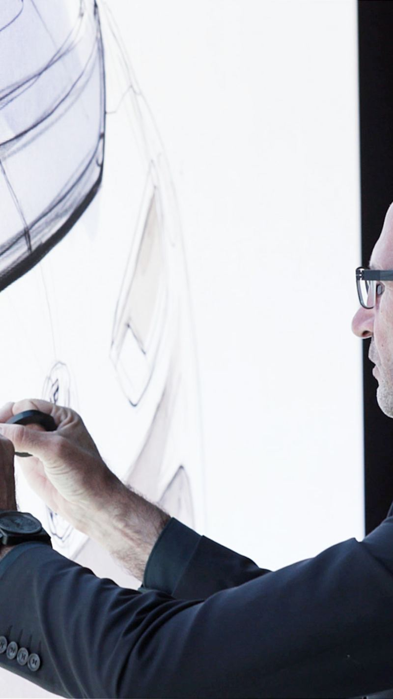 Klaus Bischoff mit Designs für Volkswagen
