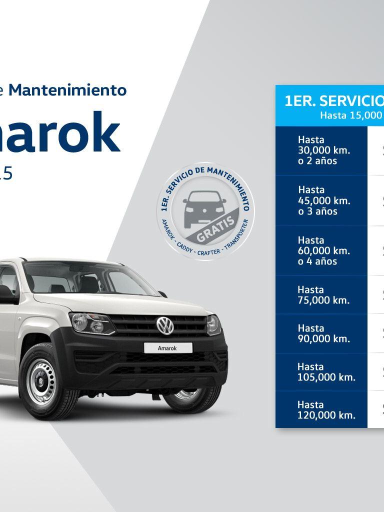 Servicio de mantenimiento Amarok Diesel 2015