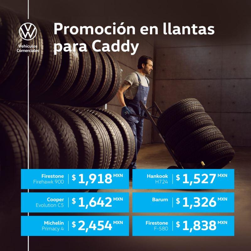 Promoción en llantas para Caddy