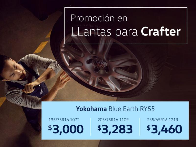 Promoción en llantas para Volkswagen Crafter