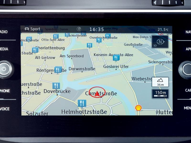 폭스바겐 모델 티구안 편의 사양 디스커버 미디어 인포테인먼트 시스템