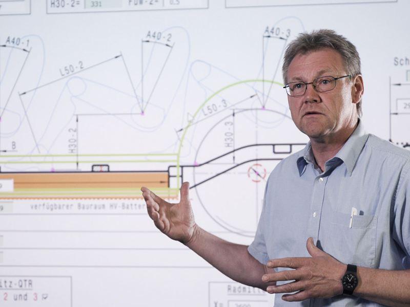 Bernd Dörrige auf der Arbeit.