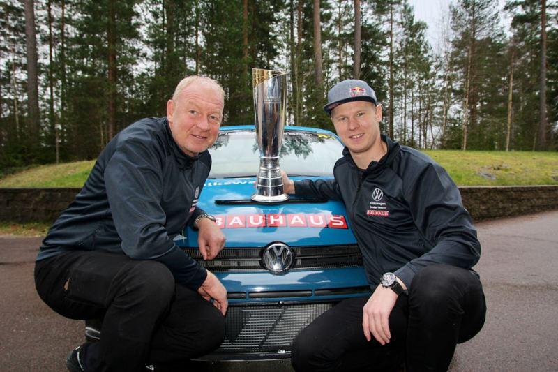 Pappa Tommy och Johan Kristoffersson