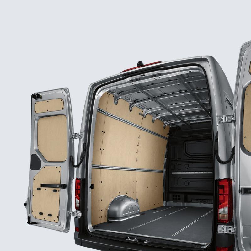 volkswagen e-crafter diseño interior espacio de carga