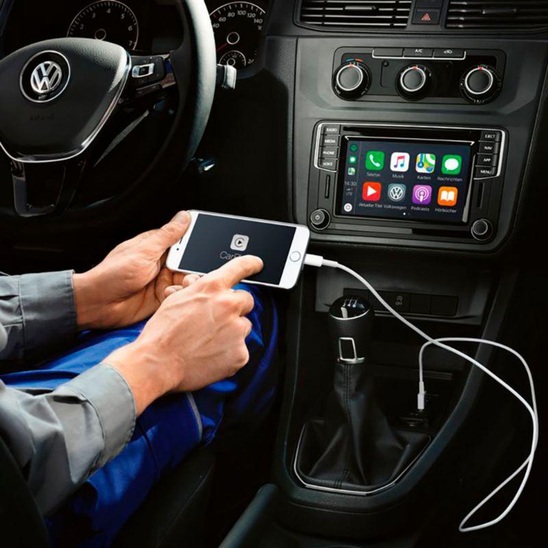 volkswagen caddy kombi con app-connect