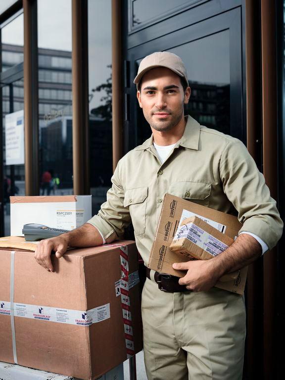 crafter hombre con paquetes