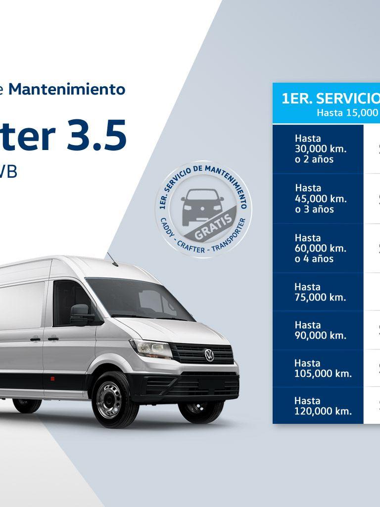 Precios mantenimiento Volkswagen Crafter