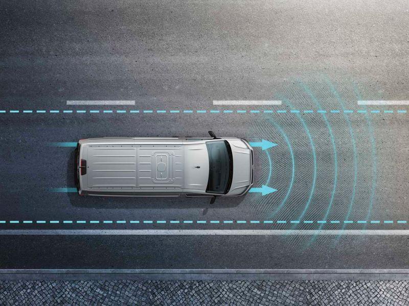 Volkswagen comerciales e-Crafter Asistente de mantenimiento de carril