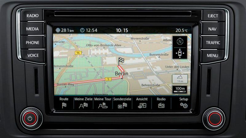 Volkswagen comerciales Grand California Tecnología sistema de navegación Discover Media