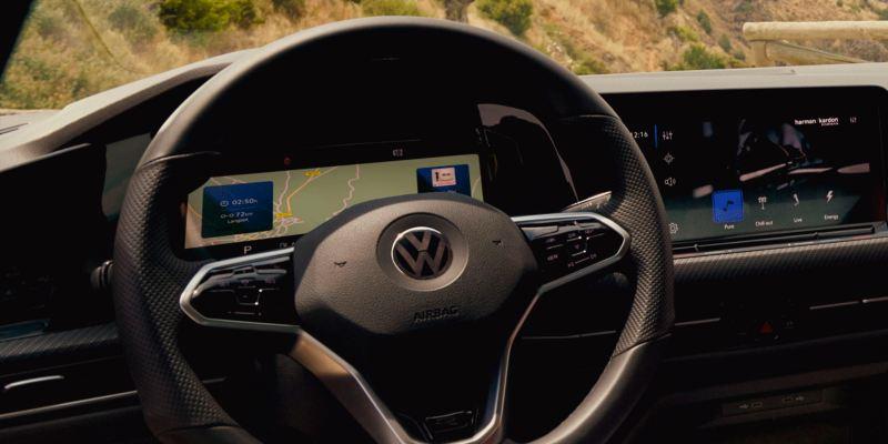 Detalle del Innovision Cockpit del Volkswagen Golf 8