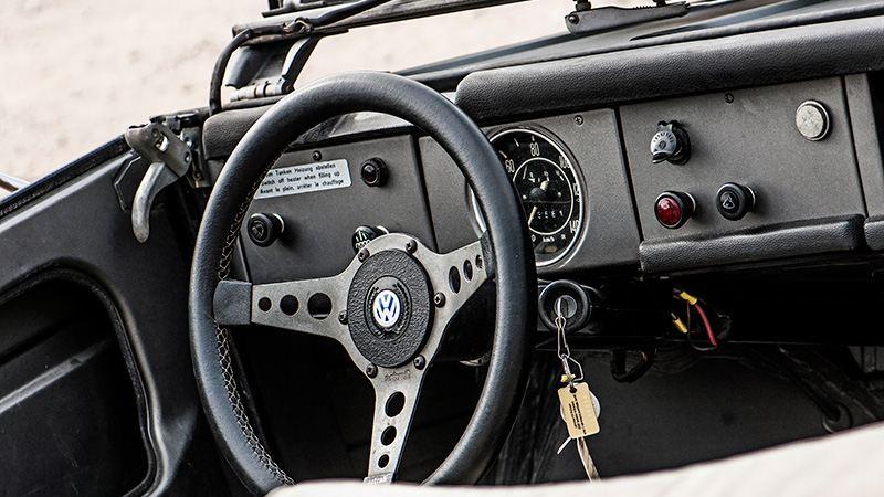 Bingo Rimérs gamla VW inuti