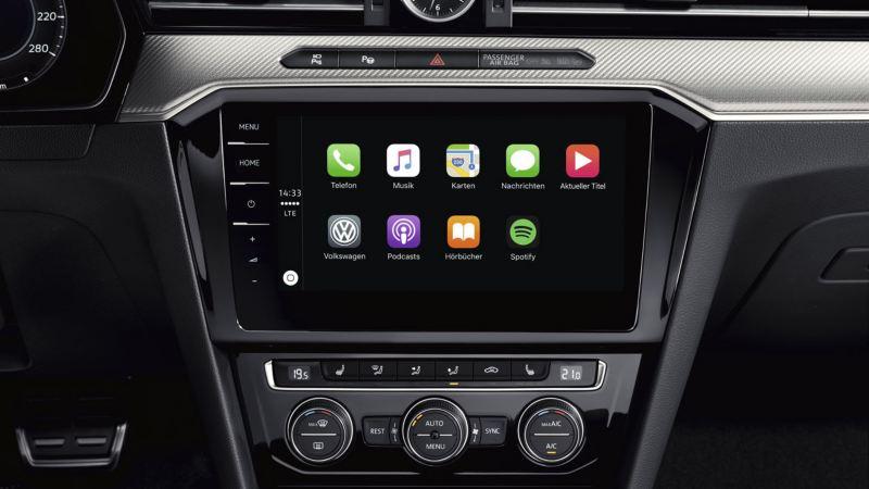 Pantalla de App-Connect del Volkswagen Arteon