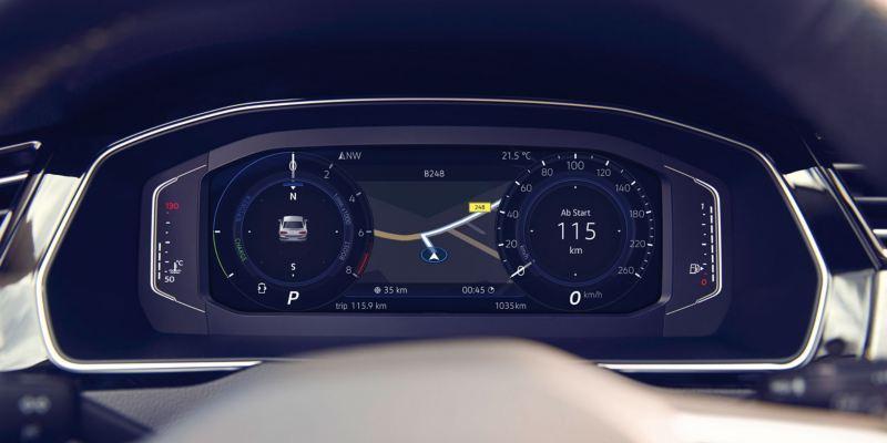 Detalle del Digital Cockpit del Volkswagen Passat Variant
