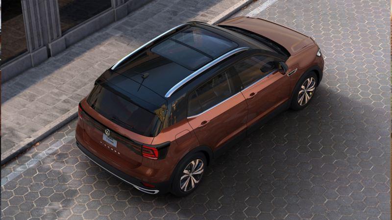 Nuevo T-Cross el SUV de Volkswagen con la mejor tecnología en color bronce namibia