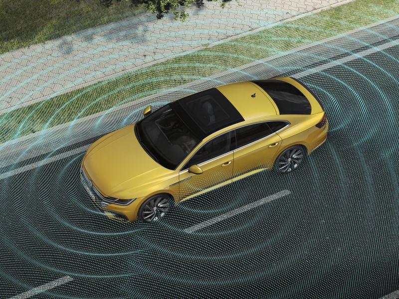 Sistema de vision en 360 grados del Volkswagen Arteon