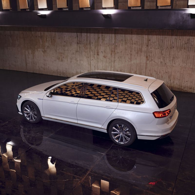 Financiación del Volkswagen Passat GTE Variant visto desde arriba