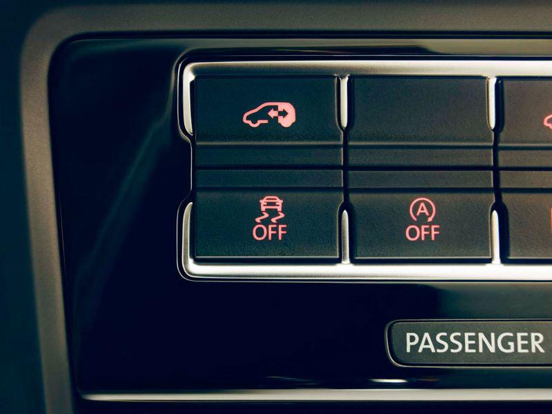Detalle del piloto del asistente Start & Stop del Volkswagen Sharan