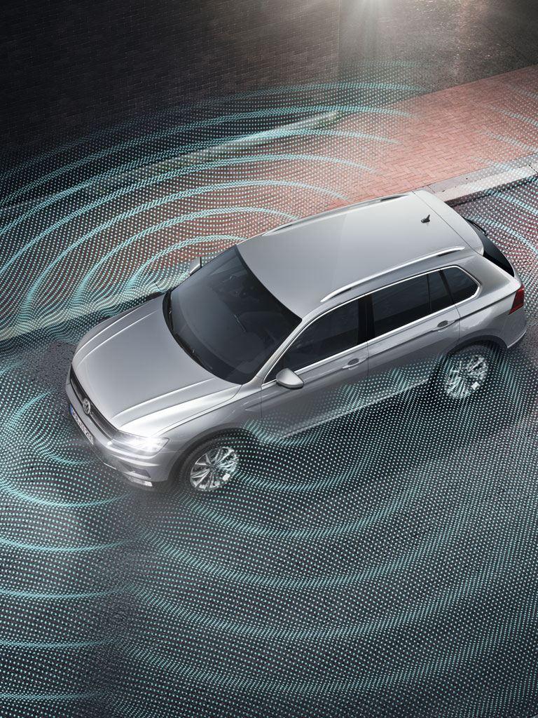 Gráfico del asistente de visión de 360º del Volkswagen Tiguan Allspace