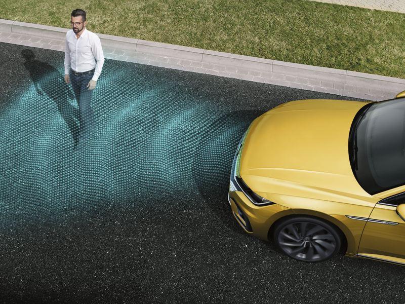 volkswagen arteon detector de peatones