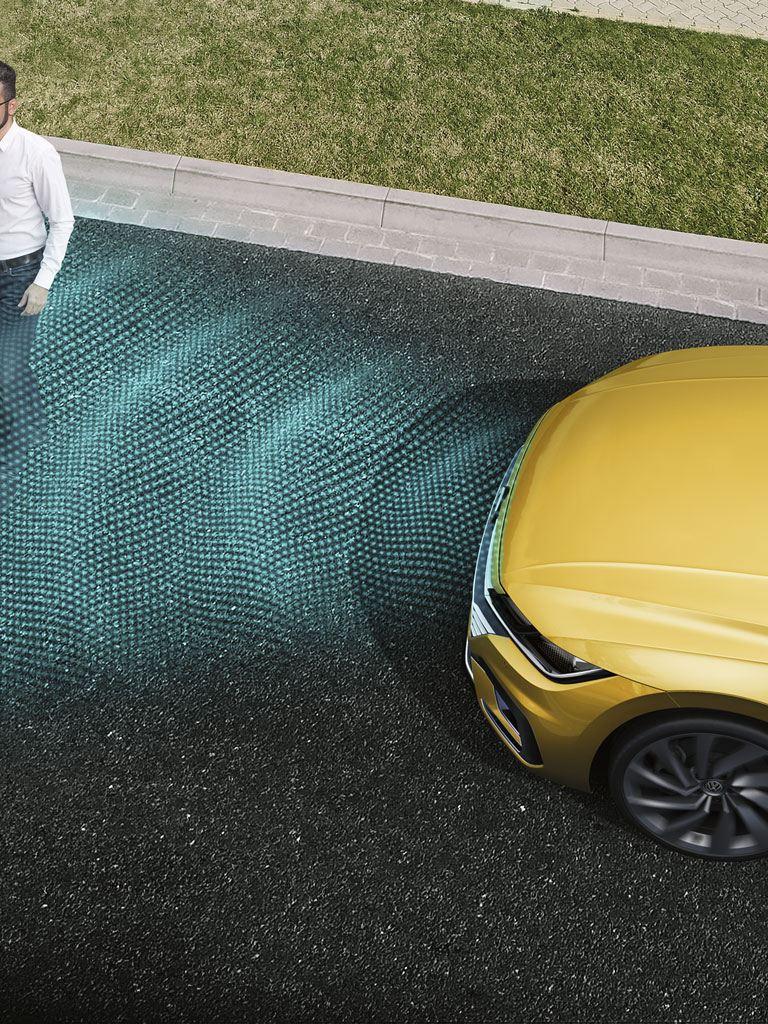 Sistema detector de peatones del Volkswagen Arteon
