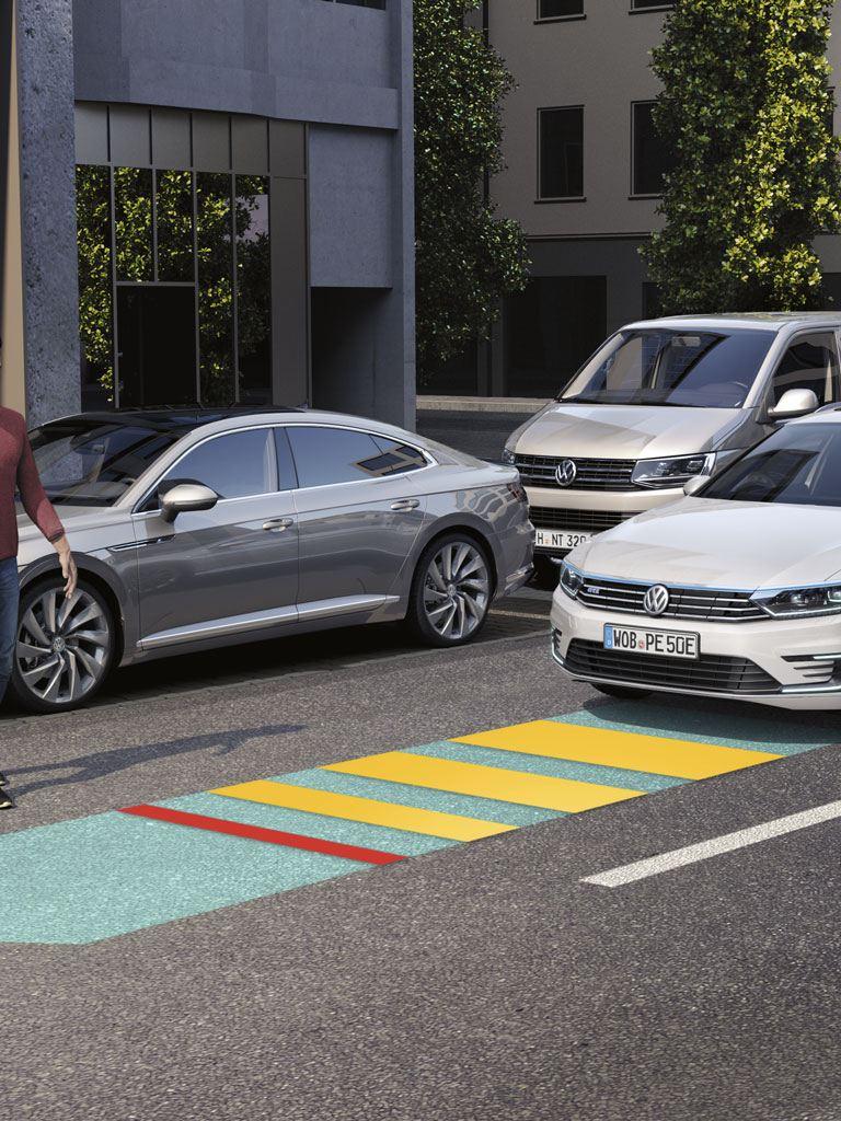 Detector de peatones del Volkswagen Passat GTE