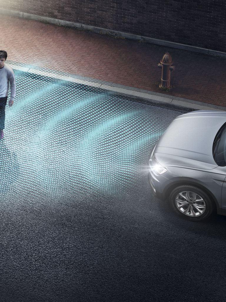 Grafico del detector de peatones del Volkswagen Tiguan Allspace