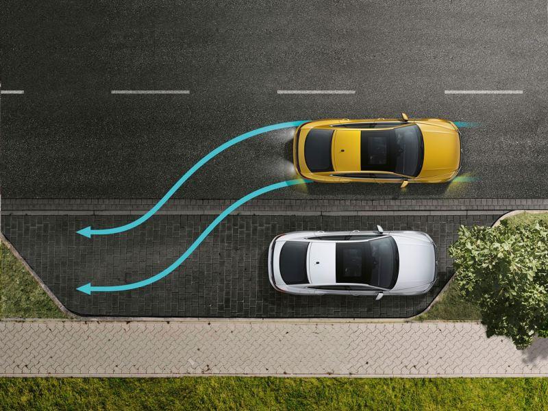 Asistente de aparcamiento del Volkswagen Arteon