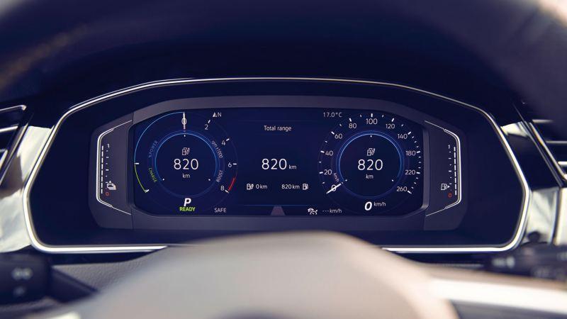 Detalle del Digital Cockpit del Volkswagen Passat