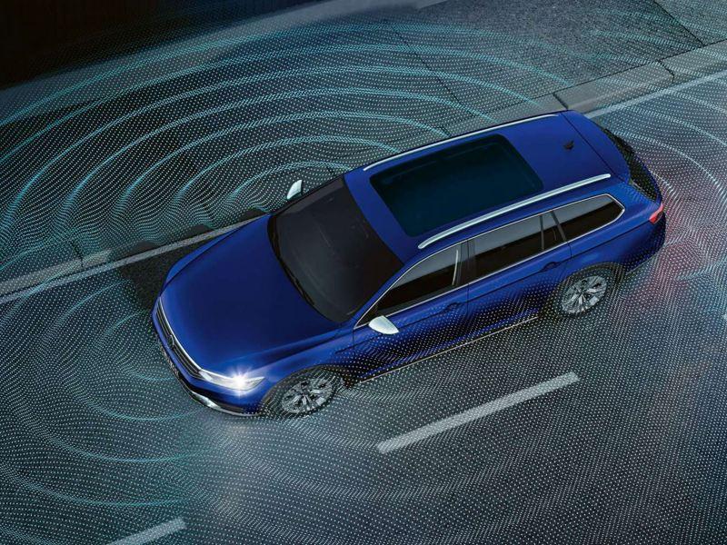 Gráfico del asistente de visión de 360º del Volkswagen Passat Variant