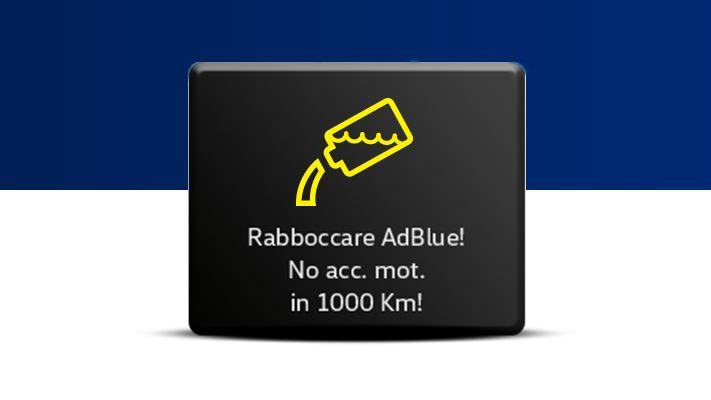 Indicatore rabbocco AdBlue 1000 km