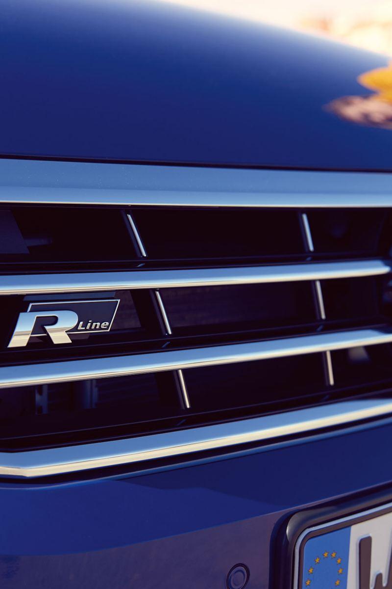 Dettaglio calandra frontale con logo R Line