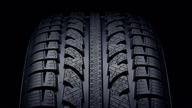 Reifenprofil von vorn