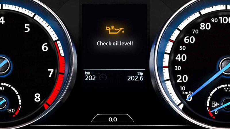 Lavt oljenivå i Volkswagen