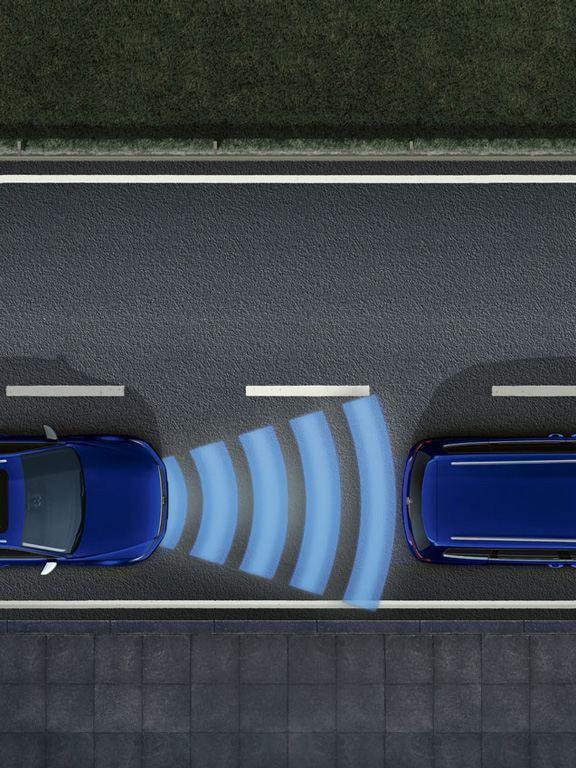 Gráfico del asistente para atascos del Volkswagen Passat Variant