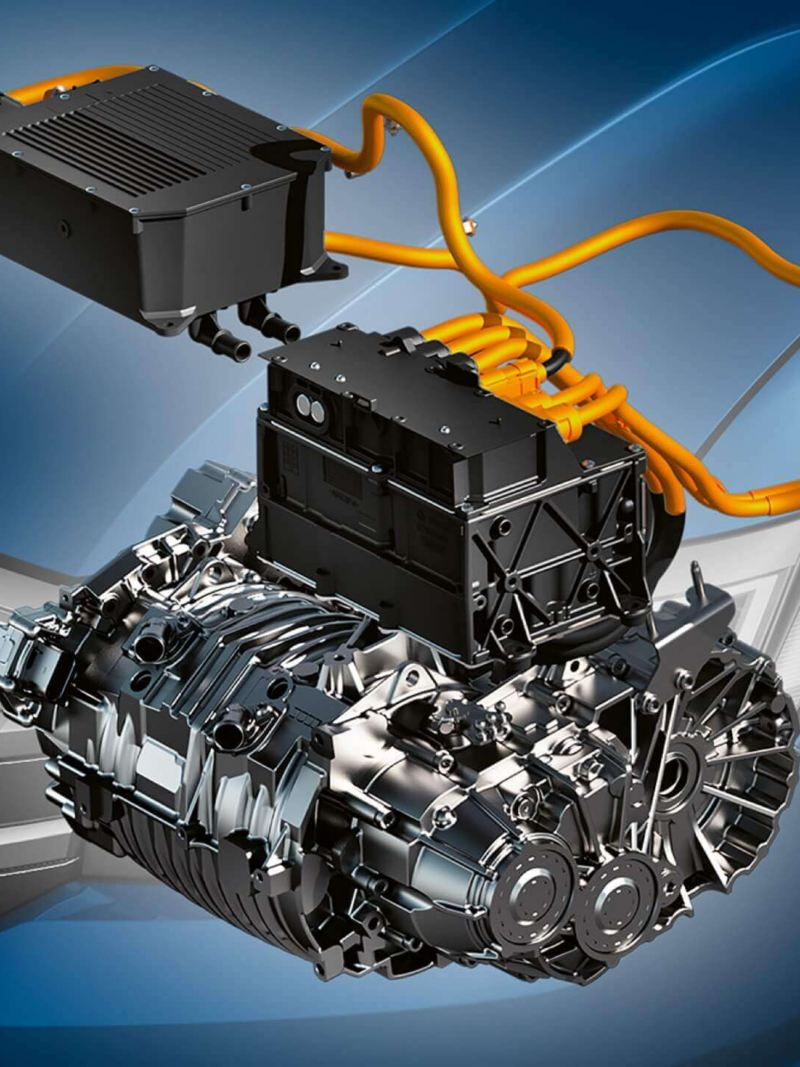 Een illustratie van de elektromotor van de e-Crafter.