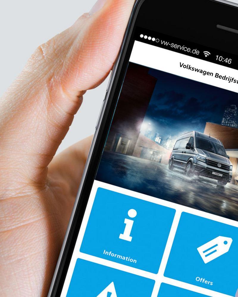 Mijn volkswagen bedrijfswagen app