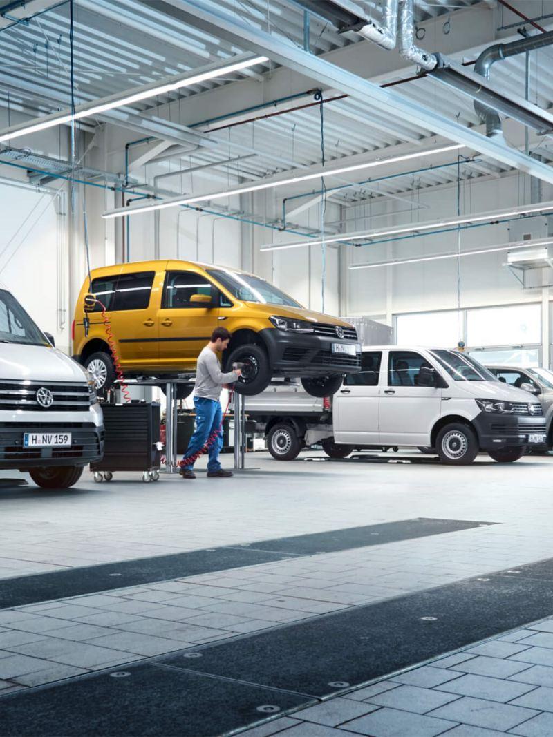 Service van Volkswagen Bedrijfswagens