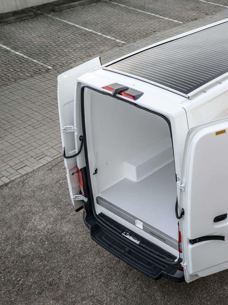 Solar koelwagen bovenaanzicht