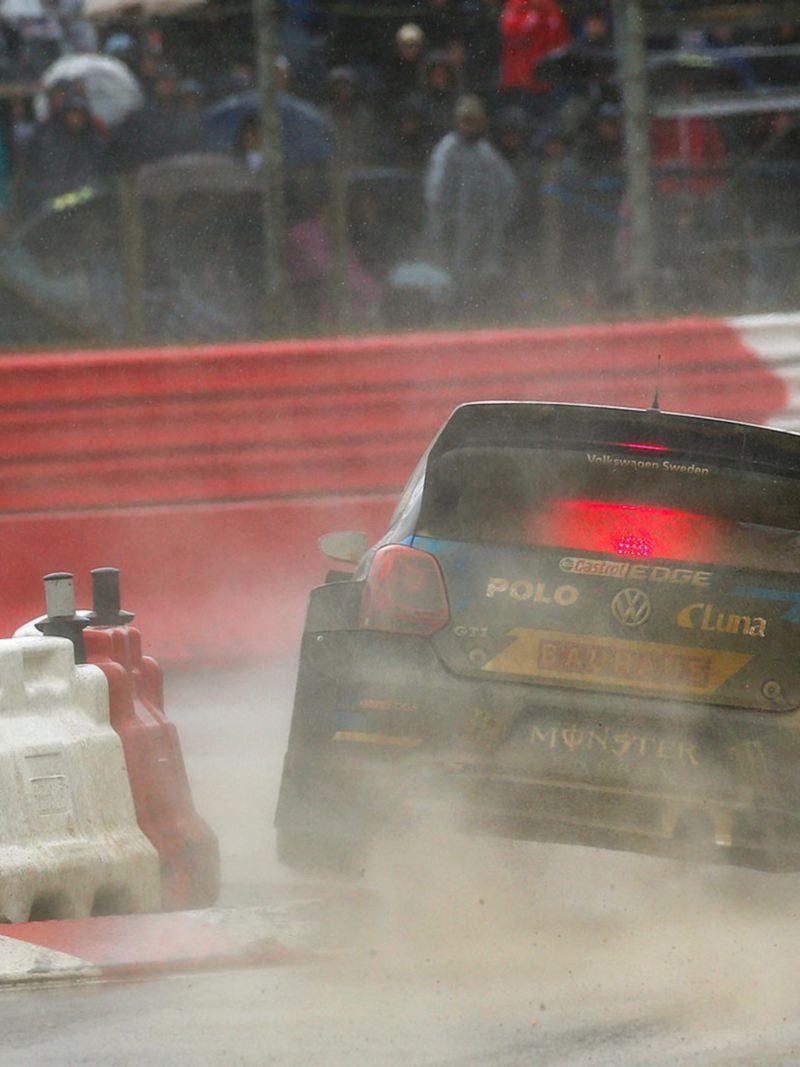 Johan Kristoffersson på rallybanan