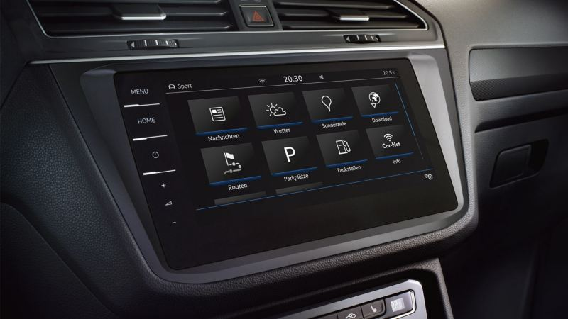 Detalle del  Sistema de navegación Discover Pro del Volkswagen Tiguan