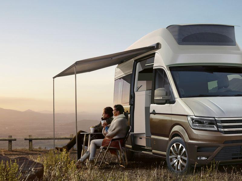 Volkswagen Utilitaires California xxl gris fond paysage