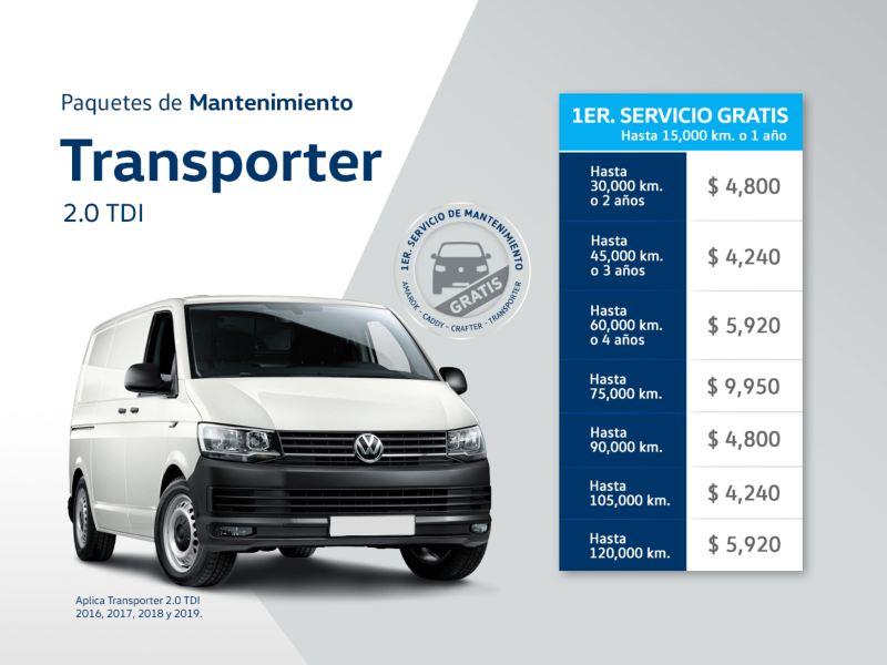 Servicio de mantenimiento Volkswagen Transporter