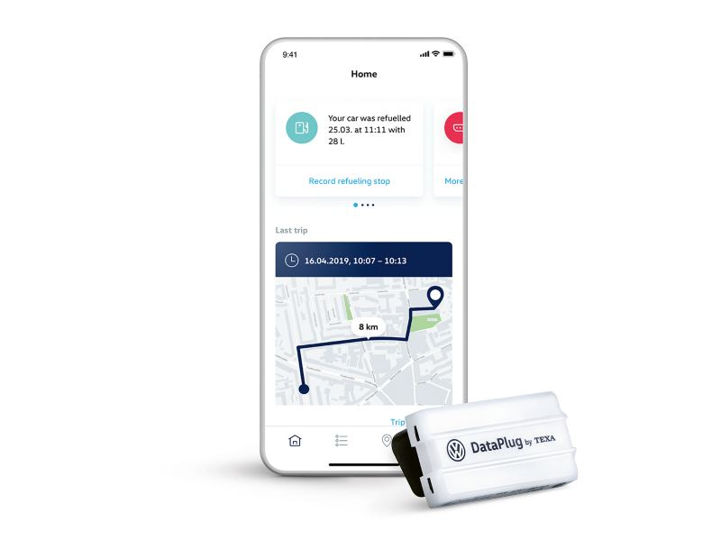 We Connect Go -sovellus ja Dataplug